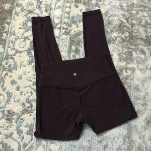 """Lululemon align pant 28"""" full length black cherry"""